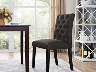 Copper Grove Quince Tufted Fabric Dining Chair   Retail 119 00