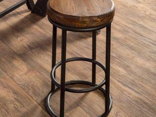 Carbon loft Horseshoe Reclaimed Wood and Iron Stool