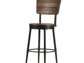 Bar Height   29 32 in  Jennings Swivel Bar Stool  Distressed Walnut   22 5 W x 22 5 l x 46 H  Retail 219 00