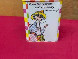 Maxine tin box