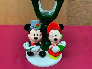 Mickey and Minnie porcelain votive candle holder