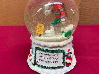 Maxine snow globe