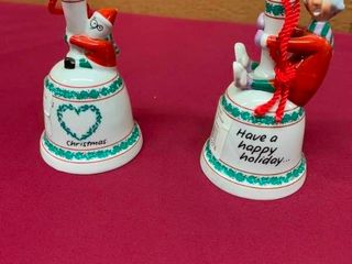 Collectible Maxine and Floyd porcelain bells