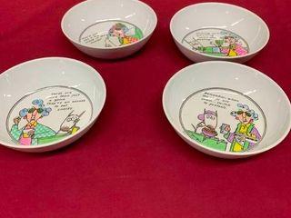 Maxine porcelain snack bowls