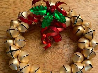 Jingle bell wreath