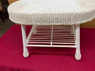 Small wicker coffee table