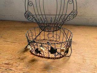 Wire decorative baskets
