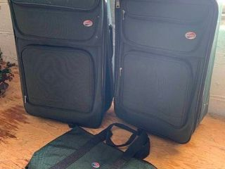 American Tourister canvas luggage