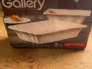 Gallery 2 piece stoneware baker set