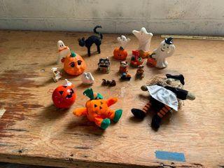 Variety of Halloween decorations