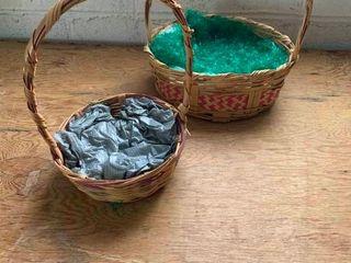 Wicker easter baskets