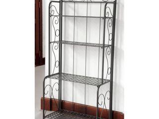 Bakers Rack Antique Black  Retail 142 99