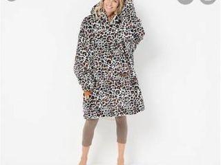 The company original oversized blanket sweatshirt leopard