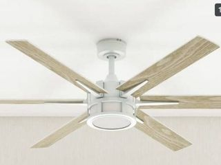 56  Honeywell Kaliza Indoor Modern Ceiling Fan with Remote  Bright White