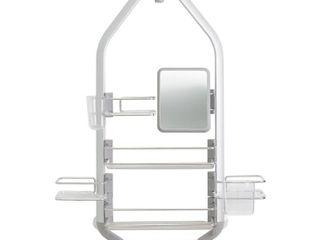 ARTIKA Adjustable Over The Shower Head Door Caddy with Mirror in Aluminum and Stainless Steel