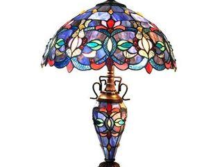 Tiffany Style Double lit 2 1 light Dark Bronze Table lamp  Retail 195 99