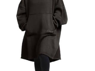 Black   The Comfy Hoodie Oversized Knit Sweatshirt