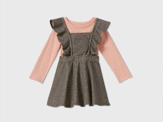 Toddler Girls  2pc Striped long Sleeve T Shirt   Skirtall Set   art class Pink 2T