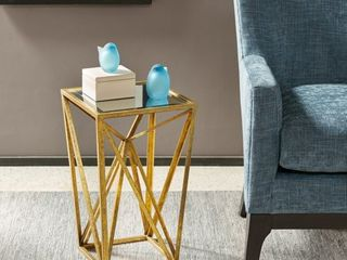 Silver Orchid Allison Gold Angular Modern Accent Table  Retail 86 49