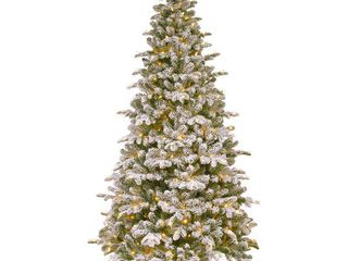 National Tree Company 6  5  Feel Real Everest Fir Medium Hinged Tree with 350 Clear lights