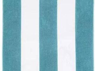 Blue Nile Mills Coastline Beach Towel  Cotton  Cabana Stripes  Oversized  34  x 64