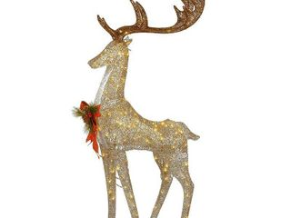 National Tree Company 55  Pre lit Crystal Champagne Standing Buck