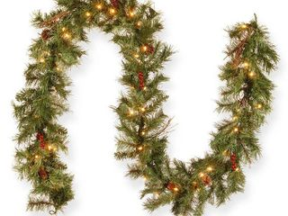 9  Glistening Pine Garland with Clear lights   tested works