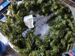 24  lighted Christmas Wreath