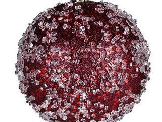 Vickerman N190219D 4 75  Wine Glitter Hail Ball 4 Bag