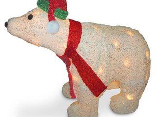 18 5  Polar Bear with Clear lights