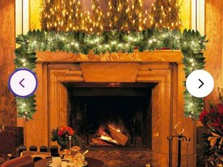 9  Pre lit Artificial Christmas Pine Garland with 50 Warm lights