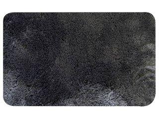 Popular Bath Super Soft St  lucia Bath Rug  Grey  20X32