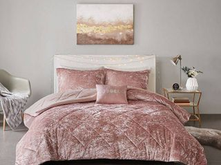 Intelligent Design Felicia Full Queen 4 Pc  Velvet Comforter Set Bedding
