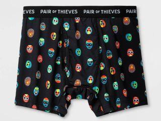 Pair of Thieves Men s SuperFit Novelty Masks Boxer Briefs   Black l