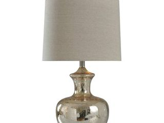 Mercury Glass Table lamp   Silver Mercury   Off White