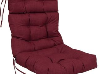 Blazing Needles 20 inch by 42 inch Spun Polyester Solid Outdoor Tufted Chair Cushion