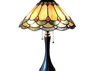 CHlOE lighting AMElIA Victorian 2 light Antique Dark Bronze Table lamp 15  Shade