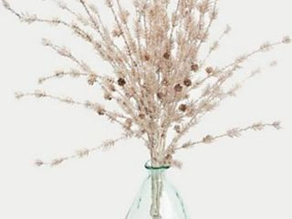 38  Glistening Winter Branches in Glass Vase by Peony