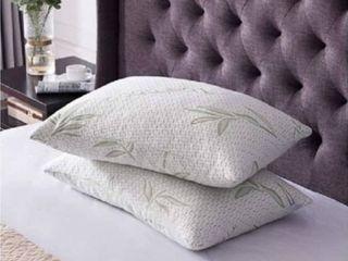 1 2 Pack Queen Bamboo Hypoallergenic Memory Foam Pillow   Set of 2