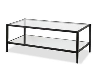 Wilda Coffee Table with Mirrored Shelf  Optional Finishes  Retail 153 99 black