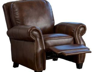 Torreon PU leather Recliner Club Chair by Christopher Knight Home  Retail 463 99 light brown