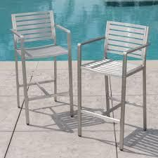 cape coral outdoor barstool set of 2 silver