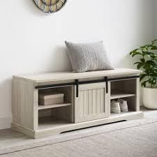 The Gray Barn Sliding Groove Door Entry Bench  Retail 242 99
