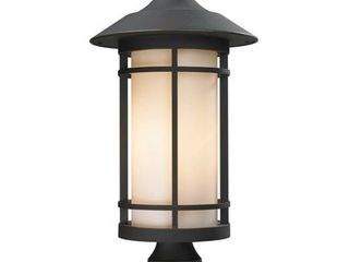 Z lite 528PHB ORB Outdoor Post light with Oil Rubbed Bronze Finish Aluminum Frame  Matte Opal