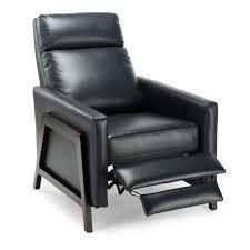 milo modern push back recliner by greystone midnight blue