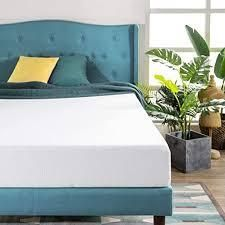 Priage by zinus 8 inch green tea memory foam mattress twin