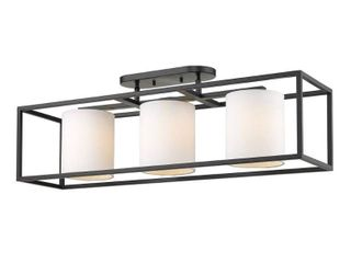 Manhattan 3 light Semi Flush  Retail 319 00 black