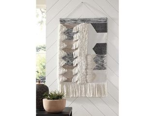 Taylen Boho Chic Black Natural Woven Tapestry Wall Decor  Retail 92 99