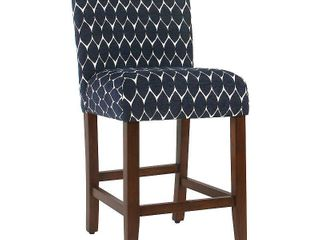 HomePop Classic 24  Parsons Counter Stool   24 inches  Retail 116 99 dark blue