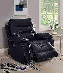 acme ashi recliner power motion navy
